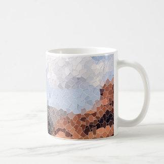 Taza del mosaico del barranco de la nieve