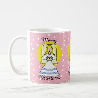 Taza del navidad del ángel del canto