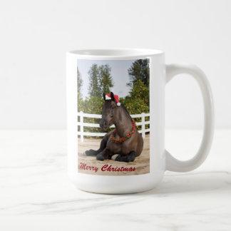 Taza del navidad del caballo de proyecto