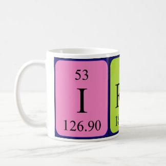 Taza del nombre de la tabla periódica de Irene