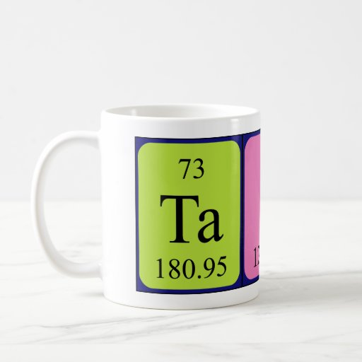 Taza del nombre de la tabla periódica de Taine