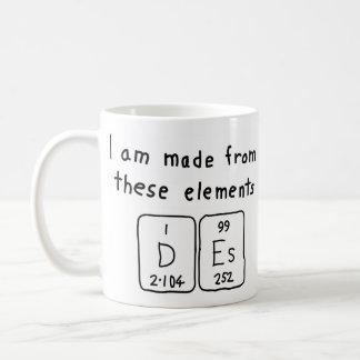 Taza del nombre de la tabla periódica del DES