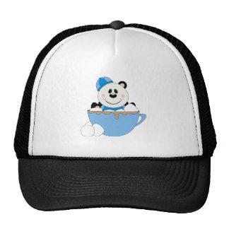 Taza del oso de panda de la nieve del bebé de Cute Gorros Bordados