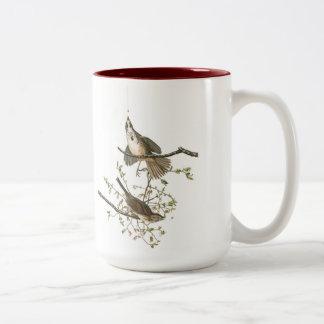 Taza del pájaro de Audubon, gorrión de canción, 15