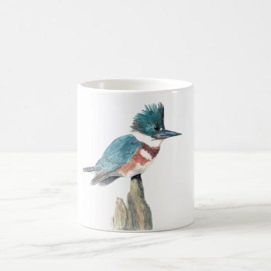 Taza del pájaro de la acuarela: Martín pescador