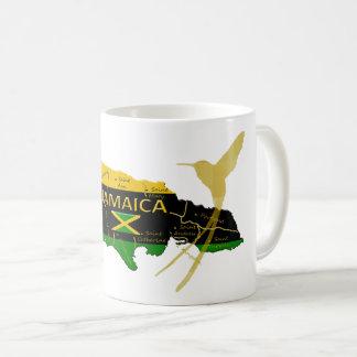 Taza del pájaro del tarareo del oro de los colores