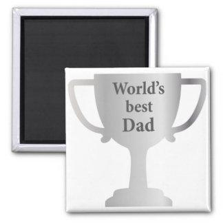 Taza del papá de los mundos del día de padres la m imán para frigorifico