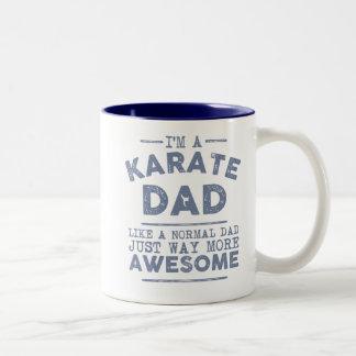 Taza del papá del karate (azul)