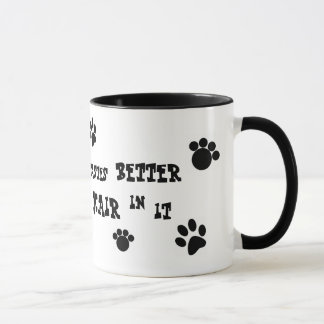 ¡taza del pelo de perro! taza