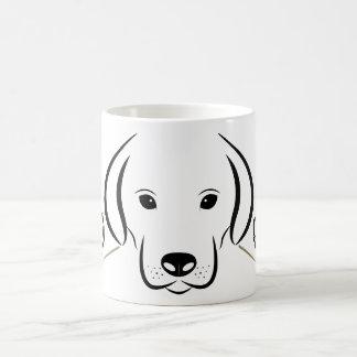Taza del perro, blanco y negro