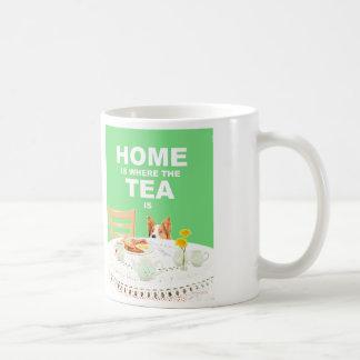Taza del perro - casera es donde está el té