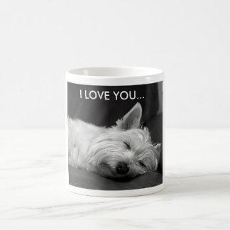 Taza del perro de Westie - TE AMO…