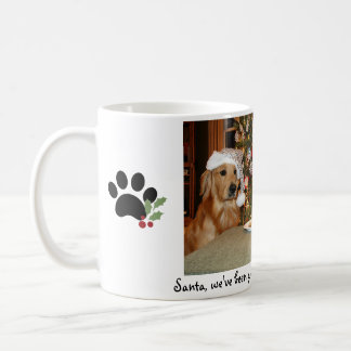 Taza del perro del navidad