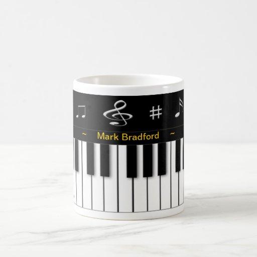 Taza del piano - personalice el nombre