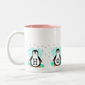 Taza del pingüino de la ESPERANZA