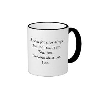 Taza del poema del té