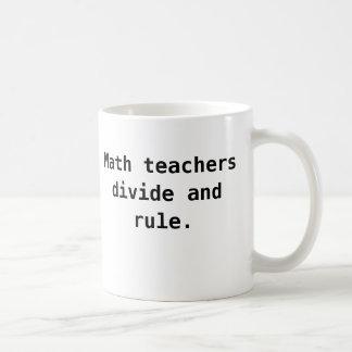 Taza del profesor de matemáticas - retruécano