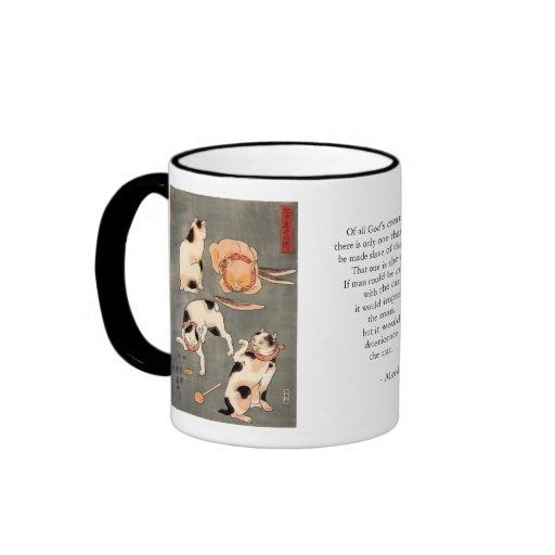 Taza del regalo de la cita de la verdad del gato