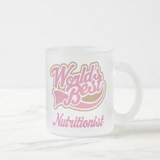 Taza del regalo del nutricionista (mundos mejores)