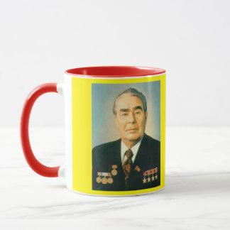 Taza del retrato de Brezhnev*