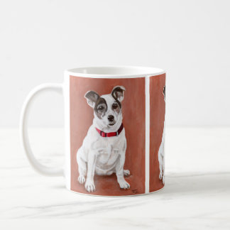 Taza del retrato de Jack Russell Terrier