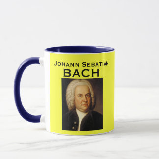Taza del retrato de Johann Sebastian Bach