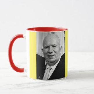 Taza del retrato de Kruschev