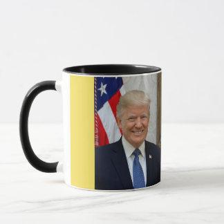 Taza del retrato de presidente Donald Trump