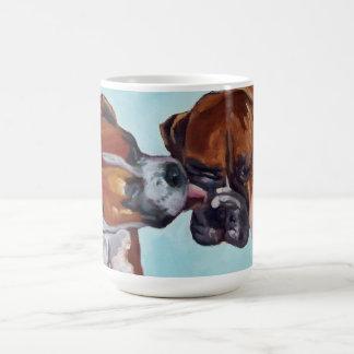 Taza del retrato del perro del boxeador