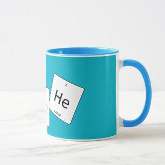 Taza del retruécano del elemento del gas hilarante