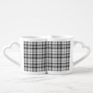 Taza del tartán de Black&white