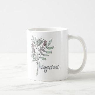 Taza del té del regaliz