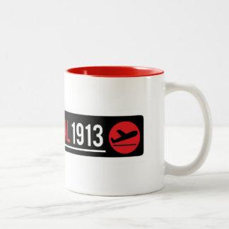 Taza Bicolor Taza del terminal 1913 con el detalle rojo