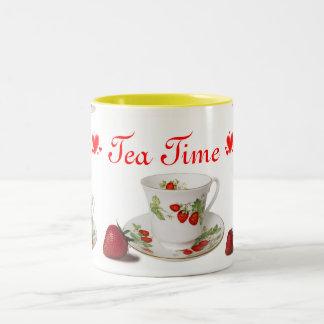 Taza del tiempo del té