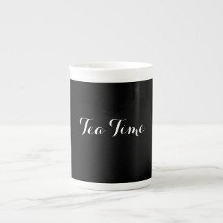 Taza del tiempo del té de la porcelana de hueso taza de porcelana
