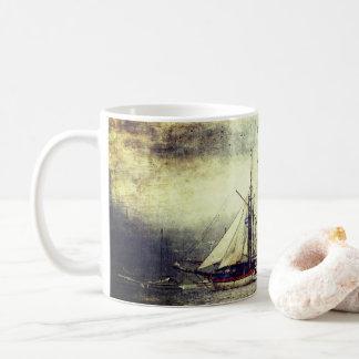 Taza del velero del vintage