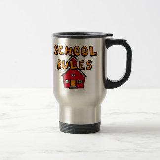 Taza del viaje de las reglas de la escuela
