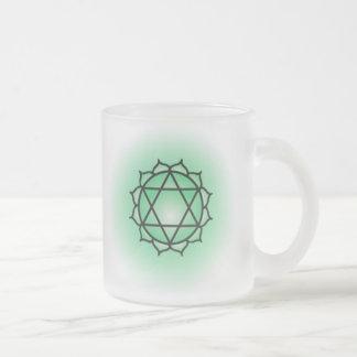 Taza del vidrio de Chakra del corazón