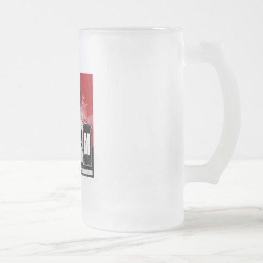 Taza del vidrio esmerilado de la fábrica del grito