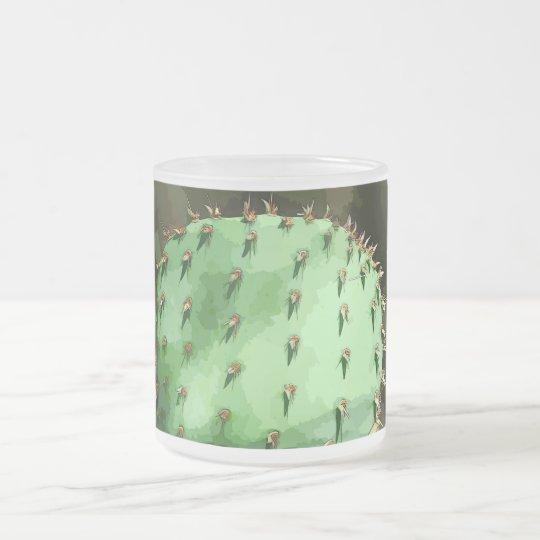 Taza del vidrio esmerilado del higo chumbo