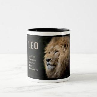 Taza del zodiaco - LEO el león