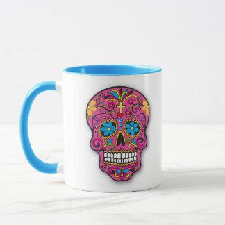 Taza Día mexicano del cráneo del rosa y del azúcar de