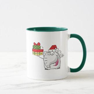 Taza Dibujo animado de los regalos del gorra de Santa