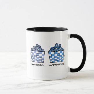 Taza Dibujo animado feliz de los azules de Happyberries