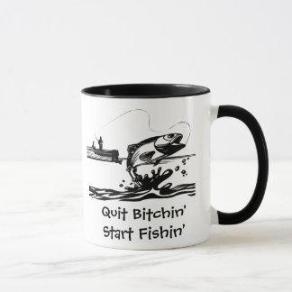 Taza Dibujo animado y el decir divertidos de la pesca