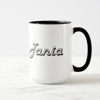 Taza Diseño conocido retro clásico de Tania