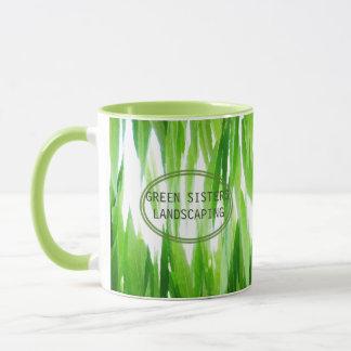 Taza Diseño de negocio verde amistoso de la tierra