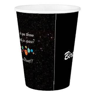 Taza divertida adaptable del fiesta del espacio vaso de papel