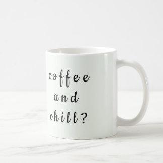 Taza divertida del café y de café de la frialdad