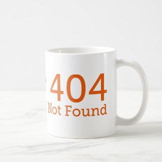 Taza divertida del error 404 Geeky